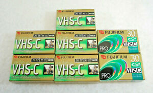 Fuji VHS-C TC-30 Blank Camcorder 30 Minute Video Tapes  Lot of 7  New  S9899