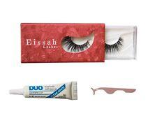 Eissah Voluminous 3D Mink Eyelashes + Lash Adhesive and Applicator Bundle Kit