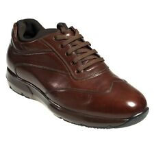 Silvano Lattanzi Brown Leather Sneakers Shoes 9.5 Hand-made in Italy