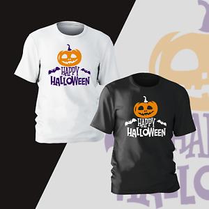 Happy Halloween Pumpkin T-Shirt Horror Funny Present Gift Kids Unisex Mens Women
