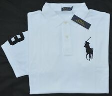 New 3XB 3XL BIG 3X POLO RALPH LAUREN Mens Big Pony shirt top White solid RL NWT