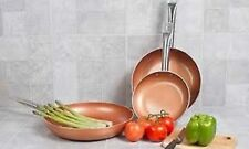 Imperial Home Non-Stick Ceramic-Coated Copper Fry Pan Set (3-Piece)