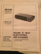 Sears 5 Way Air Cleaner Model 635.830000 Owners Manual