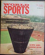 OCTOBER 1964 WORLD SPORTS MAGAZINE! OLYMPIC GAMES SOUVENIR EDITION!