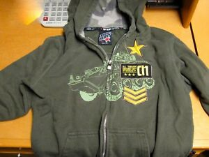 AUTHENTIC TOP HEAVY BRAND HOODIE MILITARY STYLE SWEATSHIRT SHIRT  SIZE LARGE (7)
