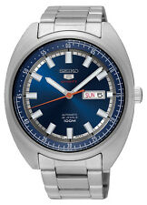 NEW SEIKO 5 SPORTS 24 JEWEL AUTOMATIC BLUE DIAL TURTLE 1980's STYLE SRPB15K1
