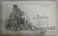 Chesterfield Cigarette Ad: Travel Bombay India from 1927 Size:10 x 16 inches