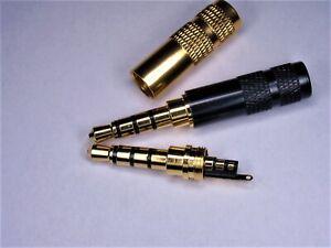 AUX 3,5mm, Klinkenstecker 4 Polig, zum löten 1 Stück,vergoldet Farbe zufällig
