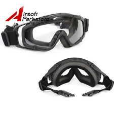 1X Tactical Paintball Safety Goggle Glasses 2pcs of Lens for Helmet w/ Side Rail