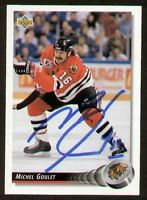 Michel Goulet signed autograph auto 1992-93 UD Hockey Trading Card