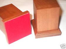 BASE IN LEGNO MOGANO PER FIGURINI - WOOD BASE FOR MODEL 3x3 h6