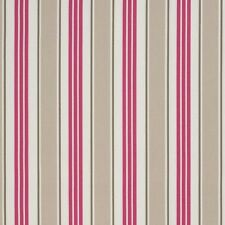 Clarke and Clarke Taupe Deckchair Stripe Design Upholstery Curtain Craft Fabric