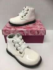 Lelli Kelly LK3310 Camille Infant Girls Patent Boots In Bianco White