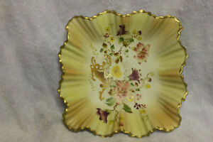 Carlton Ware Footed Dish Blush Decoration With W & R Backstamp