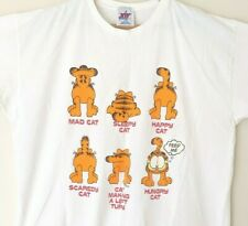 Garfield Vintage Mood Mens 2XL T-Shirt White Joy Athletic Cotton