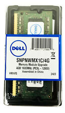 4GB DELL Memory RAM 1.35v DDR3 SODIMM 204p 1600MHz PC3-12800 SNPNWMX1C/4G DDR3L
