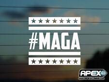 #MAGA hacer América gran otra vez-US-Trump PARODIA-GRACIOSO PEGATINA DE VINILO-Blanco