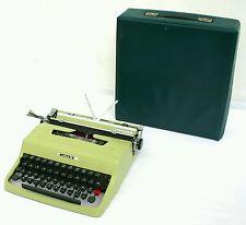 Spectacular Italian mid century typewriter Olivetti lettera 32 with case