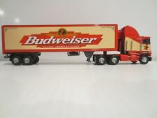BUDWEISER MATCHBOX TRUCK & TRAILER 1:58 SCALE PERFECT CONDITION W/COA
