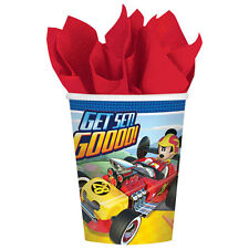 MICKEY MOUSE Roadster Racers 9oz PAPER CUPS (8) ~ Birthday Party Supplies Disney