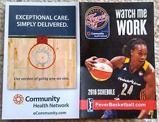 Indiana Fever 2016 Pocket Schedule - Tamika Catchings - Mint!