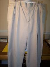 Men's Dark Khaki L. L. Bean Dress Chinos, Natural Fit, Pleated, Size 34