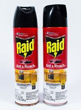 2 Cans of Raid Ant and Roach Defense System Spray - 17.5 oz Fragrance Free Scent