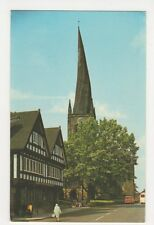 The Crooked Spire, Chesterfield Old Postcard, B328