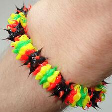 Rasta Reggae Rubber Silicone Wristband Bracelet Bangle Man Woman Girls Boys Kids