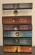 Game of thrones book set 1-7 George RR Martin, Bundle VGC