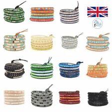 Modeschmuck-Armbänder aus Leder mit Perlen für Damen