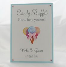 Sweet Treat/Candy Buffet Wedding Sign (2) A4 or A5 Size - You choose