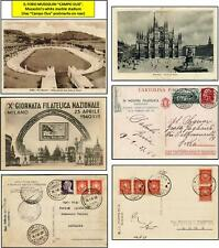 3 Philatelic Postcards of Fascist ITALY 1930's and 1940 - Milano and Roma