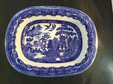 Vintage Allertons, Ltd. Blue Willow Transfer-ware 9 inch Oval Serving Bowl