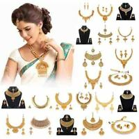 Indian Traditional Choker Set Gold Plated Wedding Necklace Set With Earrings