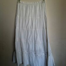 OSO CASUALS..SKIRT..S..WHITE..LACE AT TIERS-BLING..WAIST 28-38..SQUARE DANCE.