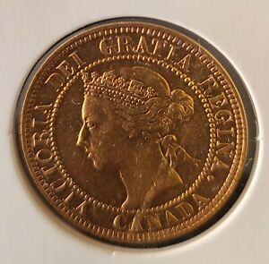 1900 Canada 1 Cent One Large Cent *AWESOME GOLDEN COPPER*UNC*