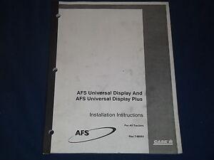 CUSTODIA AFS UNIVERSAL DISPLAY/PLUS TRACTORS INSTALLATION INSTRUCTIONS BOOK