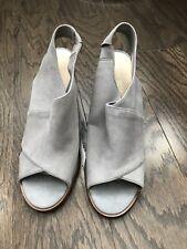 Nine West Sandals, Grey Suede, Size 9