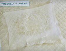 MARTHA STEWART PRESSED FLOWERS STANDARD QUILTED SHAM MSRP $60 NIOP