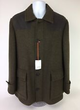 New Jack Spade Barnett Car Coat Men's Large Olive Green Wool Jacket