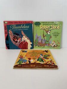 DISNEYLAND Golden Book Record Thumbelina Robin Hood Grasshopper and the Ants