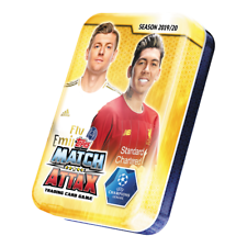 2019-20 TOPPS MATCH ATTAX Lata Mini Liga de Campeones 42 Tarjetas + Tarjeta le