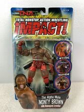 TNA IMPACT MONTY BROWN CTION FIGURE 2005 Marvel Toybiz MOC NIP Wrestling