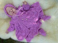 I * believe * en * Anges Gillyflower 4 Pces Rose Set de 0/3 MTH bébé ou eborn Foll