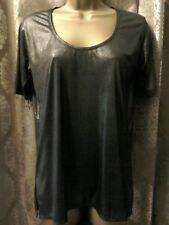 Label Lab Pewter dark grey shiny top size 10 party evening