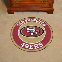 San Francisco 49ers Round Area Rug Modern Flannel Carpet Floor Mat Home Decor