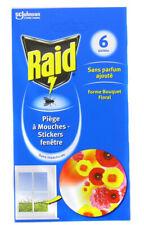 LOT DE 6 Stickers Vitre Anti-Mouches 4 Mois RAID Sans parfum