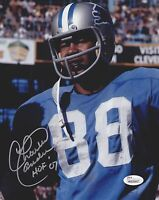 CHARLIE SANDERS HOF 07 Signed Autograph 8x10 Photo Detroit Lions JSA Witnessed
