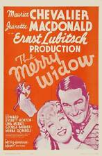 THE MERRY WIDOW Movie POSTER 27x40 D Maurice Chevalier Jeanette MacDonald Edward
